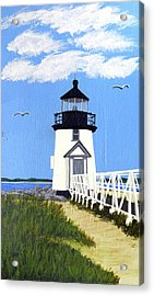 Brant Point Lighthouse Painting Acrylic Print by Frederic Kohli