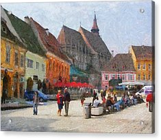 Brasov Council Square Acrylic Print