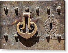 Brass Castle Knocker Acrylic Print by David Letts