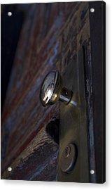 Brass Door Knob I Acrylic Print by Henri Irizarri