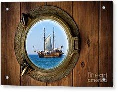 Brass Porthole Acrylic Print