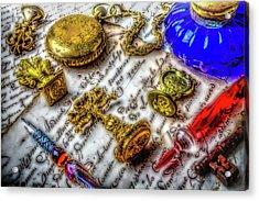 Brass Wax Seals Acrylic Print by Garry Gay