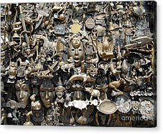 Brass Works Acrylic Print by Walter Oliver Neal