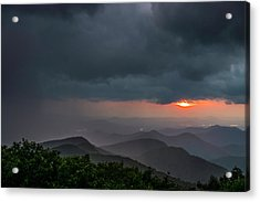 Acrylic Print featuring the photograph Brasstown Bald Sunset by Michael Sussman
