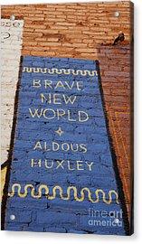Brave New World - Aldous Huxley Mural Acrylic Print by Steven Milner