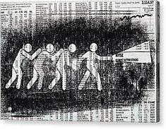 Brave Stock Broker Acrylic Print by Igor Kislev