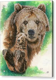 Acrylic Print featuring the painting Brawny by Barbara Keith