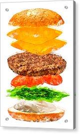 Brazilian Salad Cheeseburger Acrylic Print
