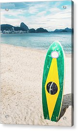 Brazilian Standup Paddle Acrylic Print
