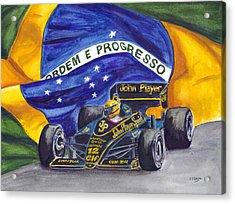 Brazil's Ayrton Senna Acrylic Print