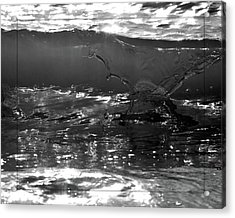 Breach Inlet Morning Waves 2 Acrylic Print by Melissa Wyatt