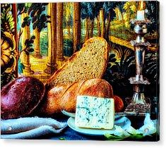 Bread And Cheese Still Life Acrylic Print