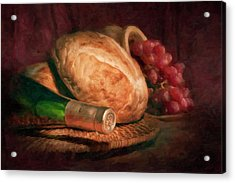 Bread And Wine Acrylic Print by Tom Mc Nemar