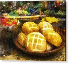 Bread Table Acrylic Print