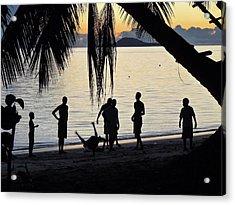 Breakdance At Sunset Acrylic Print
