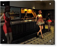 Breaker Bar Girls Acrylic Print by Bob Winberry