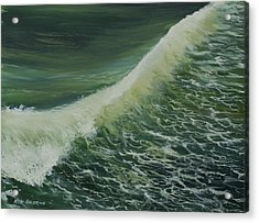 Acrylic Print featuring the painting Breaker by Ken Ahlering