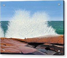 Breakers On Georgian Bay Acrylic Print