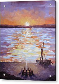 Breakfast At Dawn Acrylic Print by Mike Moyers