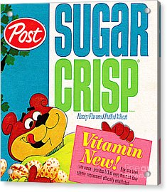 Breakfast Cereal Super Sugar Crisp Pop Art Nostalgia 20160215 Sq Acrylic Print by Wingsdomain Art and Photography