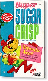 Breakfast Cereal Super Sugar Crisp Pop Art Nostalgia 20160215 Acrylic Print by Wingsdomain Art and Photography