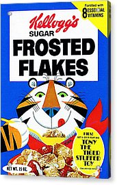 Breakfast Cereal Tony The Tiger Pop Art Nostalgia 20160215 Acrylic Print by Wingsdomain Art and Photography