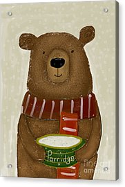 Acrylic Print featuring the painting Breakfast For Bears by Bri B