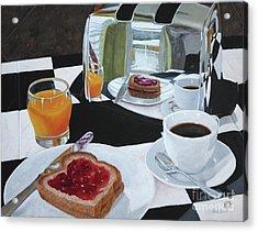 Breakfast Reflections Acrylic Print by Sid Ball