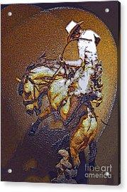 Breakin A Bronc Acrylic Print by Al Bourassa