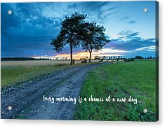 Breaking Dawn Country Road New Day Acrylic Print