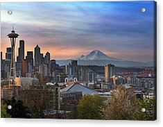 Breaking Dawn In Seattle Acrylic Print