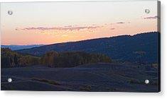 Breaking Morn Over Gore Range Acrylic Print by Daniel Hebard