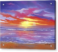 Acrylic Print featuring the painting Breaking Sun by Sena Wilson