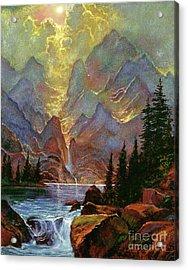Breaking Sunlight Acrylic Print by David Lloyd Glover