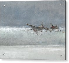 Breaking The Surf  Sri Lanka Acrylic Print by Lincoln Seligman