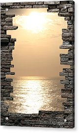 Breaking The Wall Acrylic Print by Angel Jesus De la Fuente