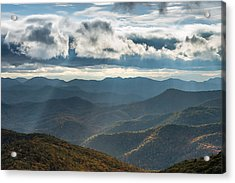 Blue Ridge Parkway Breaking Through  Acrylic Print