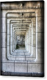 Breaking Through The Forth Wall Acrylic Print by David LaSpina