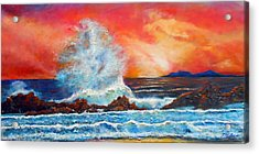 Breaking Wave Acrylic Print by Michael Durst