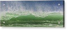 Aqua Wave Acrylic Print by Paula Porterfield-Izzo