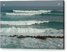 Breaking Waves Puerto Rico Acrylic Print by Patty Vicknair