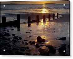 Breakwater At Penmaenmawr Acrylic Print by Peter OReilly
