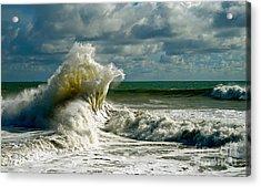 Breakwater Backwash Acrylic Print