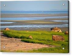Breakwater Beach At Low Tide Acrylic Print