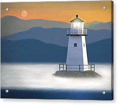Breakwater Light Acrylic Print by James Charles