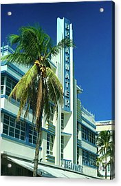 Breakwater Miami Beach Acrylic Print