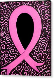 Breast Cancer Awareness Ribbon Acrylic Print by Mandy Shupp
