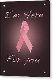 Breast Cancer Acrylic Print