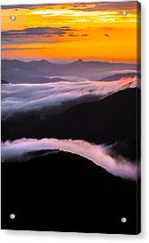 Breatthtaking Blue Ridge Sunrise Acrylic Print