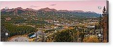 Breckenridge Panorama At Twilight - Fall Season Rocky Mountains Colorado Acrylic Print